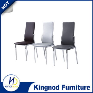 hot sell china cheap good taste leather metal chromed dining room <strong>chair</strong>