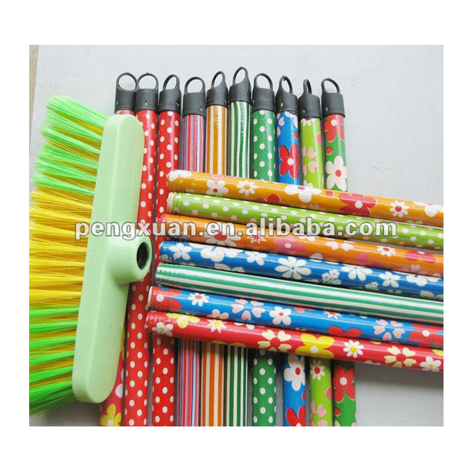 Wholesale Cleaning tools OEM Rainbow plastic coated wooden stick for broom