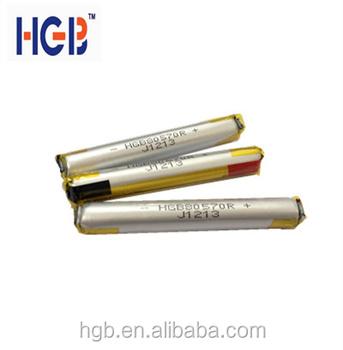 3.7v 250mah 80570 Disposable Lipo Battery For E-cigarette/e-ci ...
