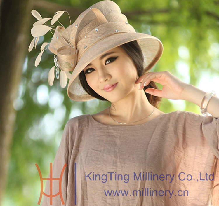 Millinery Women 100% Sinamay Hats with Good Quality