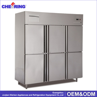 six doors coomercial industrial freezer refrigerator price