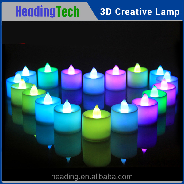 Halloween wireless Flameless LED Candles , Electric LED Tealight Candles
