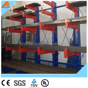 Double side steel tube storage pipe rack joint shelving system