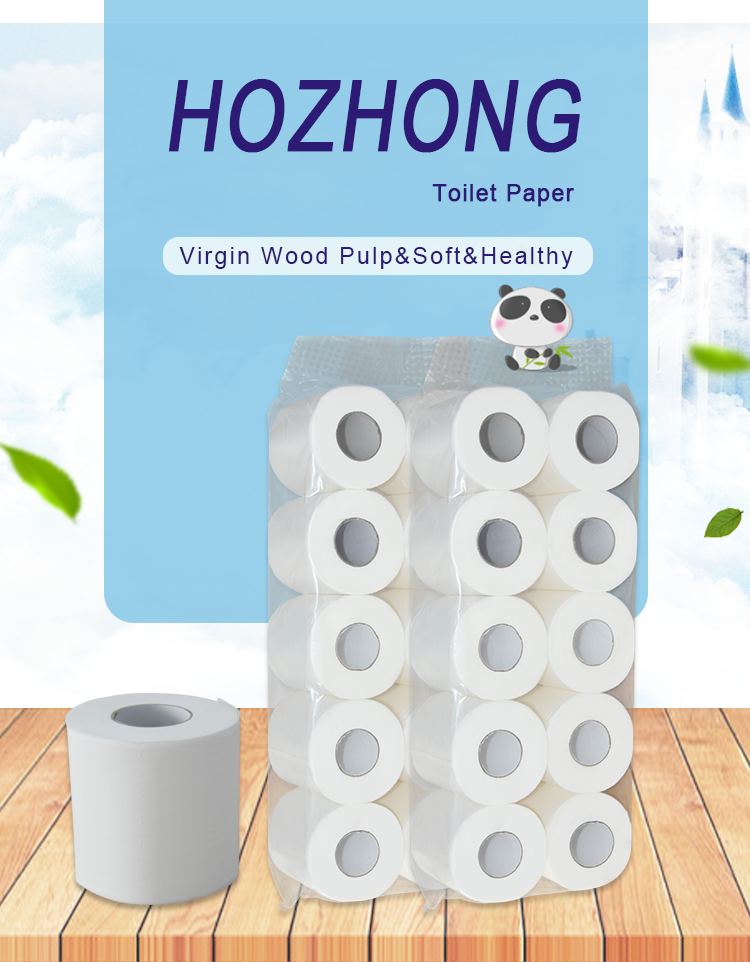 Wholesale 3-ply custom design printed toilet tissue paper roll with virgin wood pulp