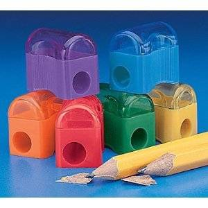 """12 ~ Pencil Sharpeners ~ Primary Colors ~ Approx. 1"""" ~ New"""