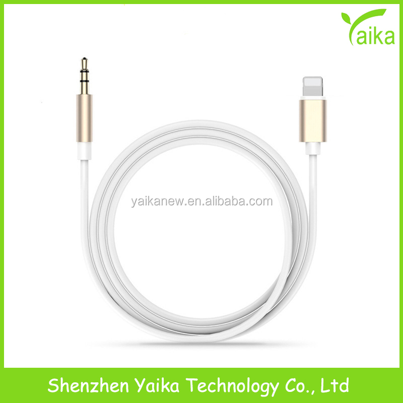 Yaika High Quality Male to Male Usb Sync for Lighting to 3.5mm Aux Hifi Audio Connector for iPhone7 Headphone <strong>Adapter</strong>