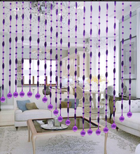2015 Fashion polished crystal glass twist beaded curtain for home decoration