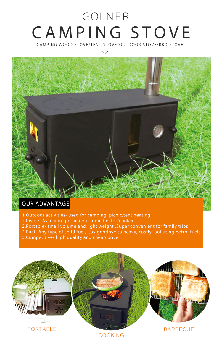 C-11V outdoor cooking camping stove oven, wood fire sotve tent heater