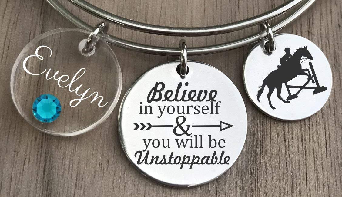 Get Quotations · Equestrian Bracelet, Equestrian Jewelry, Horse Bracelet, Horse Rider Gift, Equestrian Gift,
