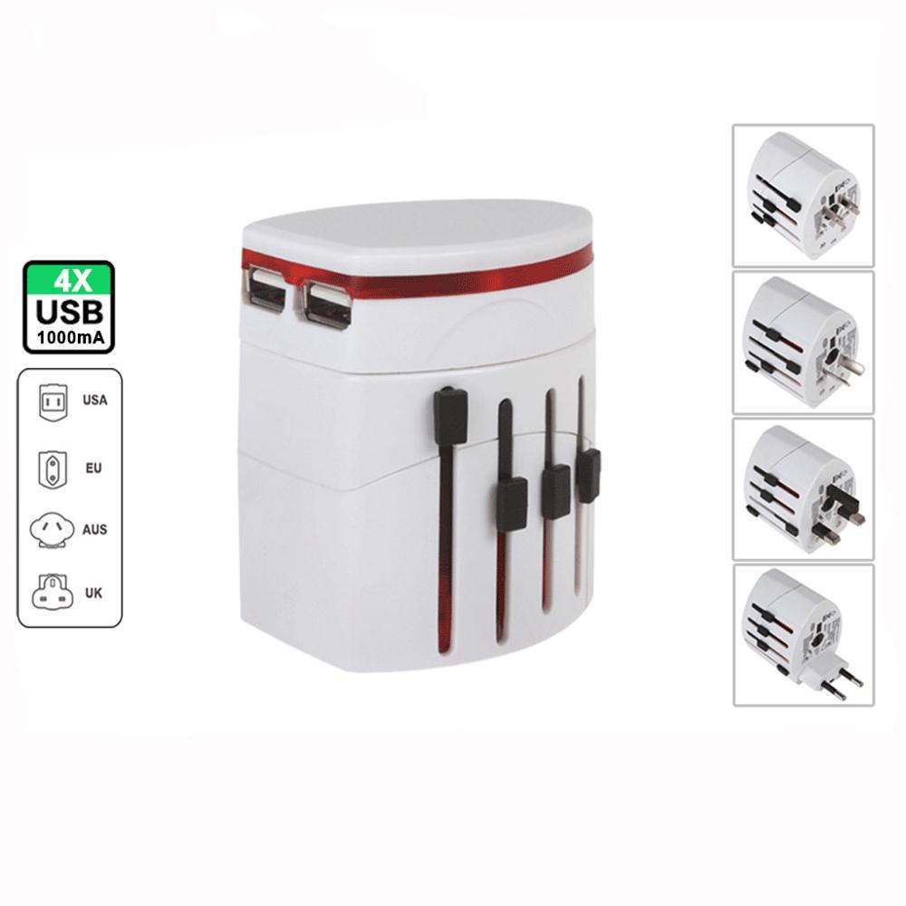 Universal Travel Adapter UK USA to EU Plug Socket Converter AC Power Adaptor Travel Adapter Dual USB Charger Universal Travel