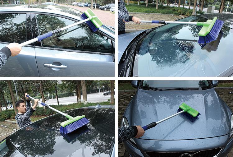 Telescopic car wash brush compact travel adapter