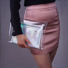 Common Transparent Waterproof Mobile Phone PVC Packaging Bag For Women Cosmetic Sunglass Bag