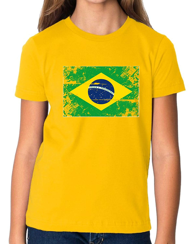 31f0ee948 Get Quotations · Vizor Brazil Flag Youth Shirt Brazilian Soccer 2018 Shirt  Kids Brazil Shirt