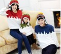 Winter family matching clothes long sleeve Christmas cotton T shirt Mother Father Baby Family Matching Outfits