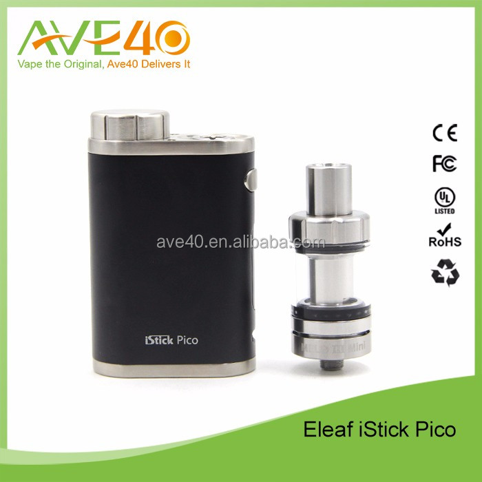 100% Original ecigarette 75w Starter Kit Eleaf iStick Pico TC Full Kit istick pico kit 75w with melo 3 atomizer