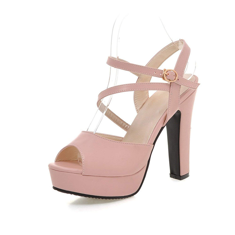 4cca9432f567 Get Quotations · Twinkle UU Peep Toe Sandals Women Shoes Summer Spike High  Heels Platform Peep Toe Black White