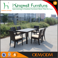 Resin wicker dining sets for outdoor
