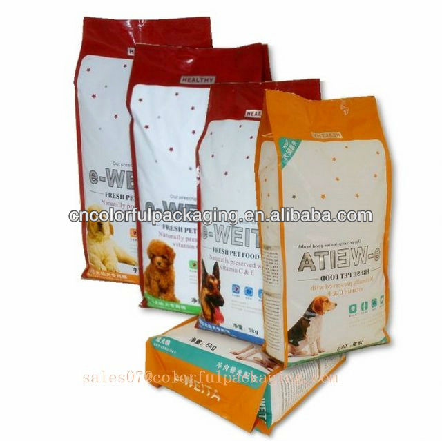Pet Food Package Bag/guset dog food pouch/Packaging Bag with flat bottom