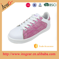fashion beautiful shiny material and china factory baby students shoes online
