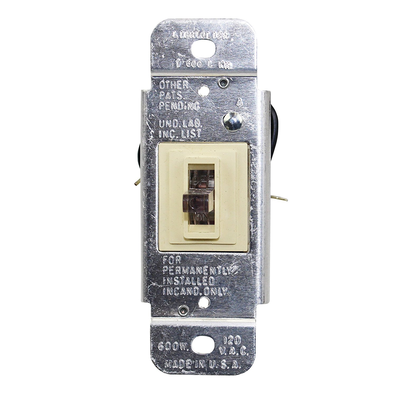 Lightolier Controls T600-L Incandescent Toggle Dimmer 600W Single Pole