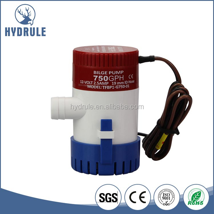12v DC 350GPH Small Submersible Centrifugal Water Bilge Pump