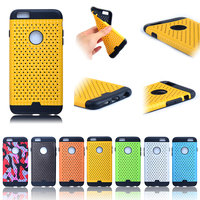 summer heat dissipation TPU PU leather case for iphone 6