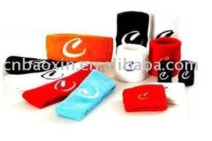 Fashion custom logo sport sweatband in cheap price
