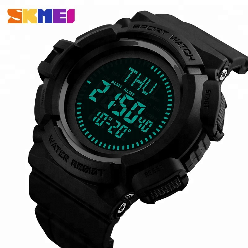 Men's Watches Hearty 2019 Skmei Brand Compass Watches 5atm Water Proof Digital Outdoor Sports Watch Mens Watch El Backlight Countdown Wrist Watches
