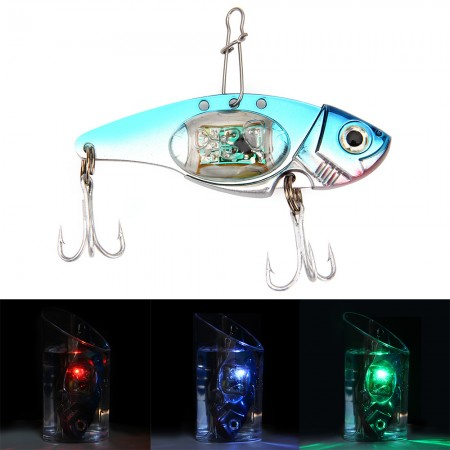Deepwater Fishing LED Fish Lure Bait Light Flashing Lamp Tackle Hooks Outdoor