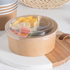 Attractive price new type Paper Salad Or Soup Bowl Food Paper Container biodegradable compostable paper bowl