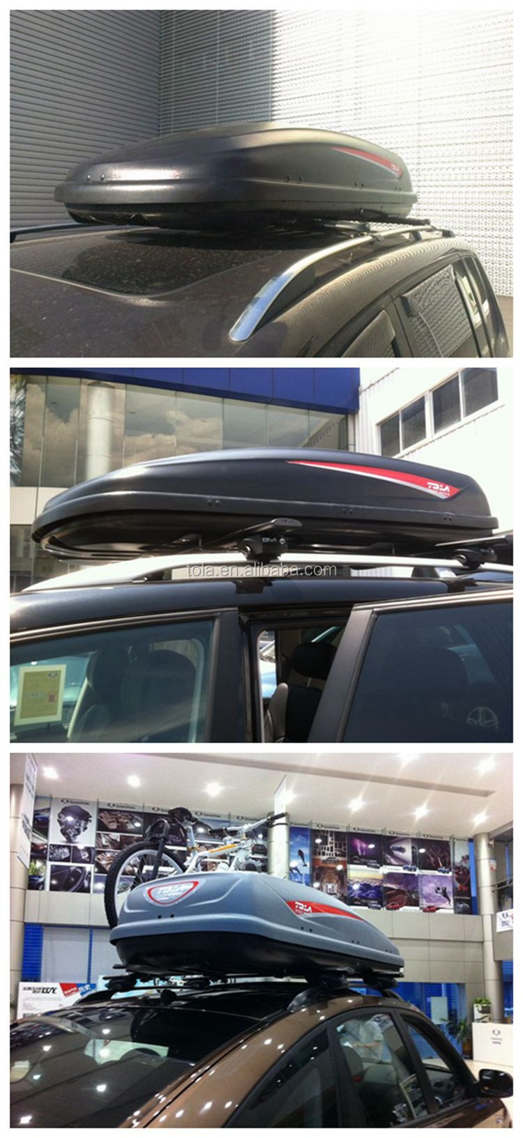 Abs Key Lockable Car Roof Luggage Box For Suv