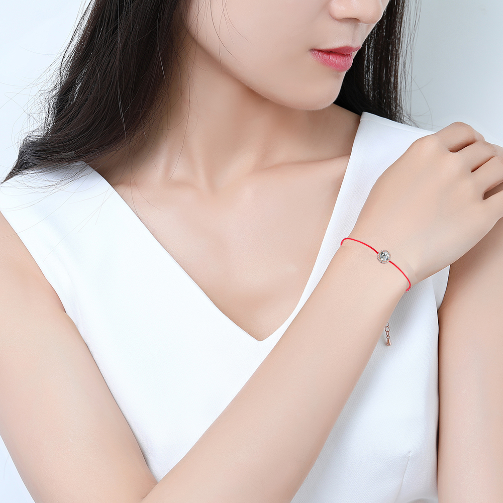 Fashion New Wholesale Adjustable Women Jewelry Lucky Red Rope Bracelet