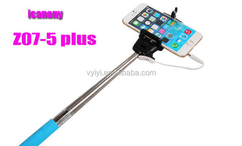 popular 2016 hot cable selfie stick z07 5s for iphone android camera z07 5s wired selfie stick. Black Bedroom Furniture Sets. Home Design Ideas