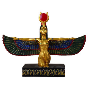 Egyptian charms furniture antique brass statue