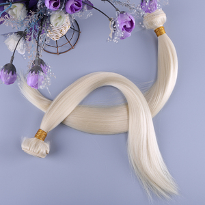 Cheap synthetic fiber hair weft extension fashion silky straight 613 blonde hair weave heat-resistant synthetic hair weave