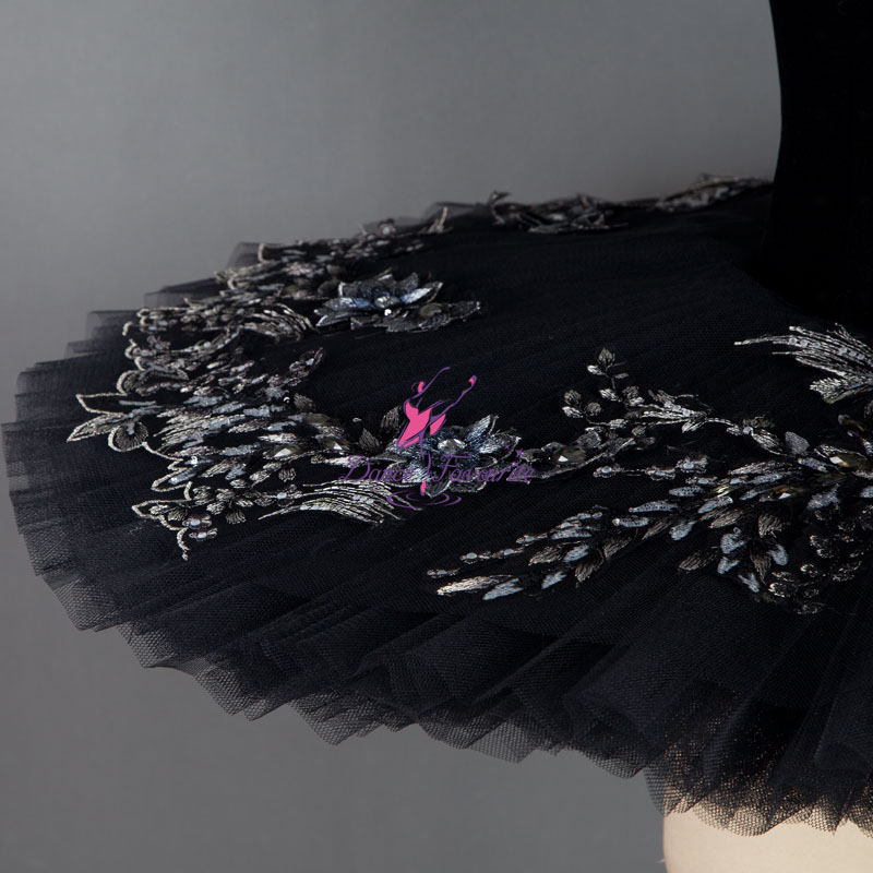 Black Swan Ballet Tutu Professional Classical Ballet Tutus Stage Costumes Girl Ballerina Dance Costume B18034