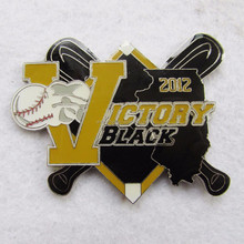 Factory Price 2017 Softball Hard Enamel Pins Badge Fast Production