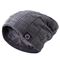 Korean male winter knitted hat warm soft breathable fashion custom winter wool caps