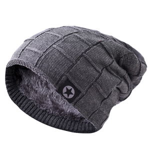 990c1e090 Korean male winter knitted hat warm soft breathable fashion custom winter  wool caps