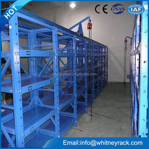 warehouse 4 layer mold racking modular storage building roller rack system