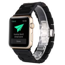 Бамбуковый деревянный ремешок для Apple Watch 38 мм 42 мм 40 мм 44 мм ремешок для Apple iWatch 40 мм 44 мм Серия 1 2 3 4 5 деревянный ремешок(Китай)