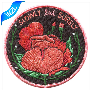 2016 Custom Latest High Quality Grateful Embroidery Rose Patches