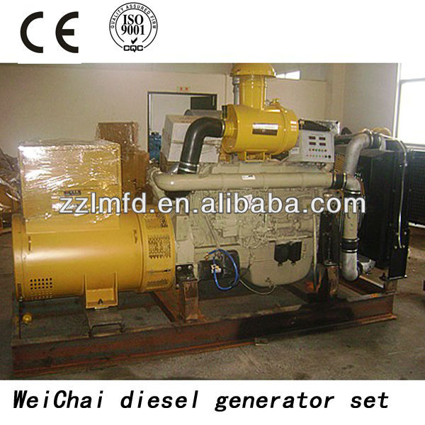Strong engine 500kw Weifang diesel generator with low rpm alternator