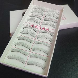 wholesale hand made Synthetic Hair false eyelashes with private logo