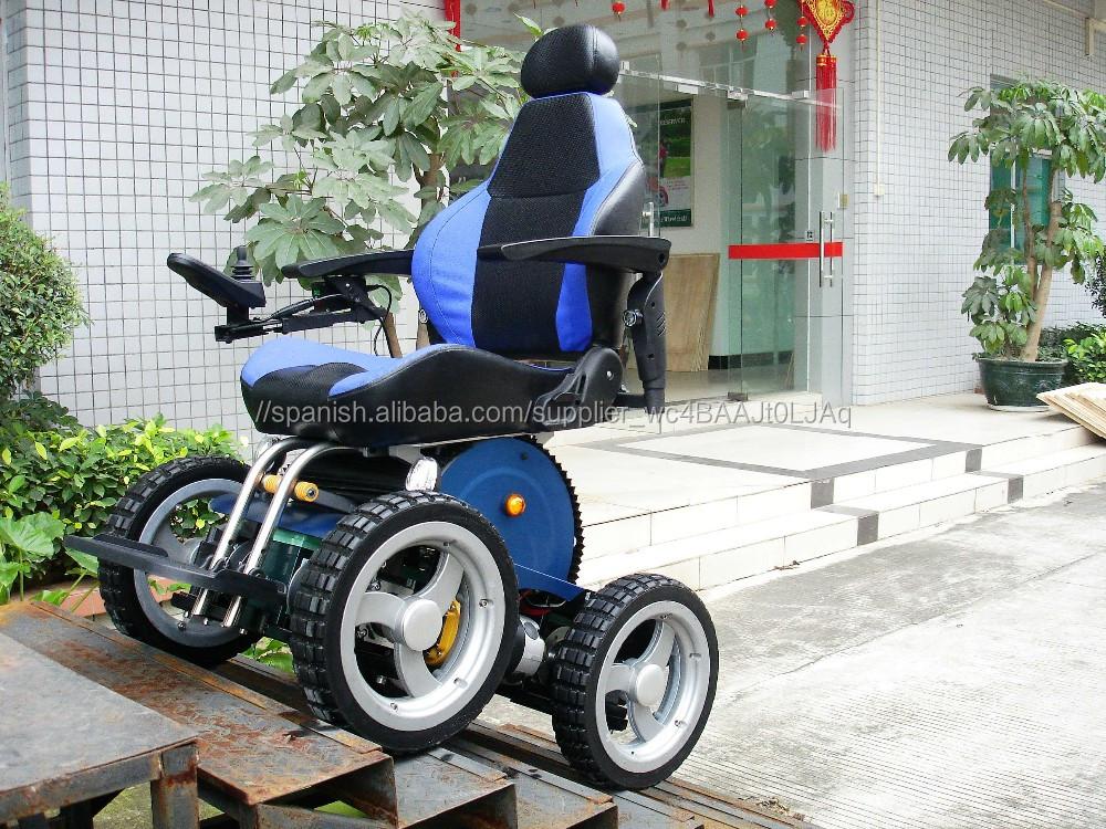 Silla de ruedas el ctrica motorizada para subir escaleras for Sillas ascensores para escaleras precios