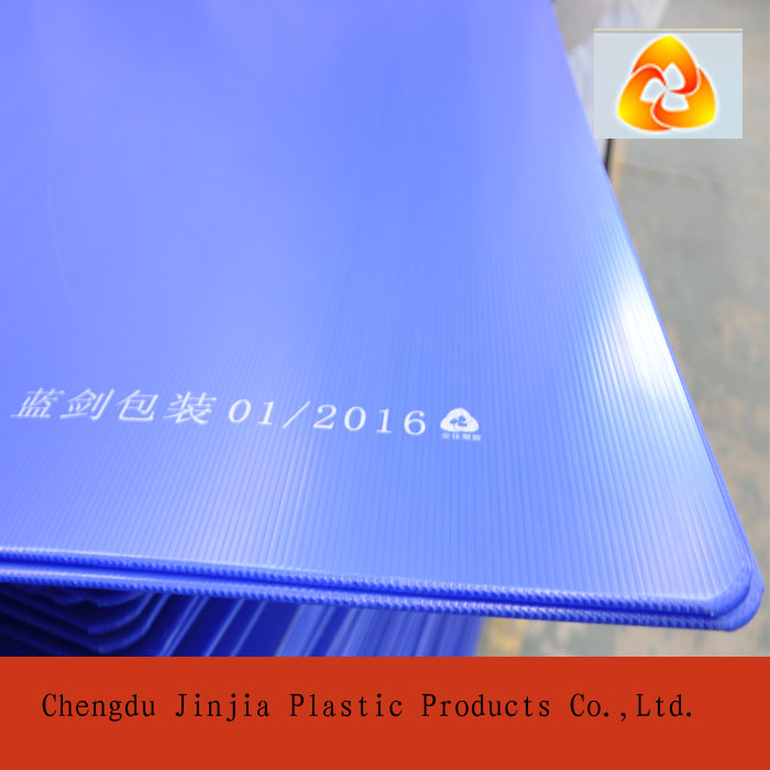 pp material sealed edges colored plastic separator sheets