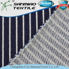 Indigo 380gsm yarn dyed knitted jean fabric supplier WHCP-02A