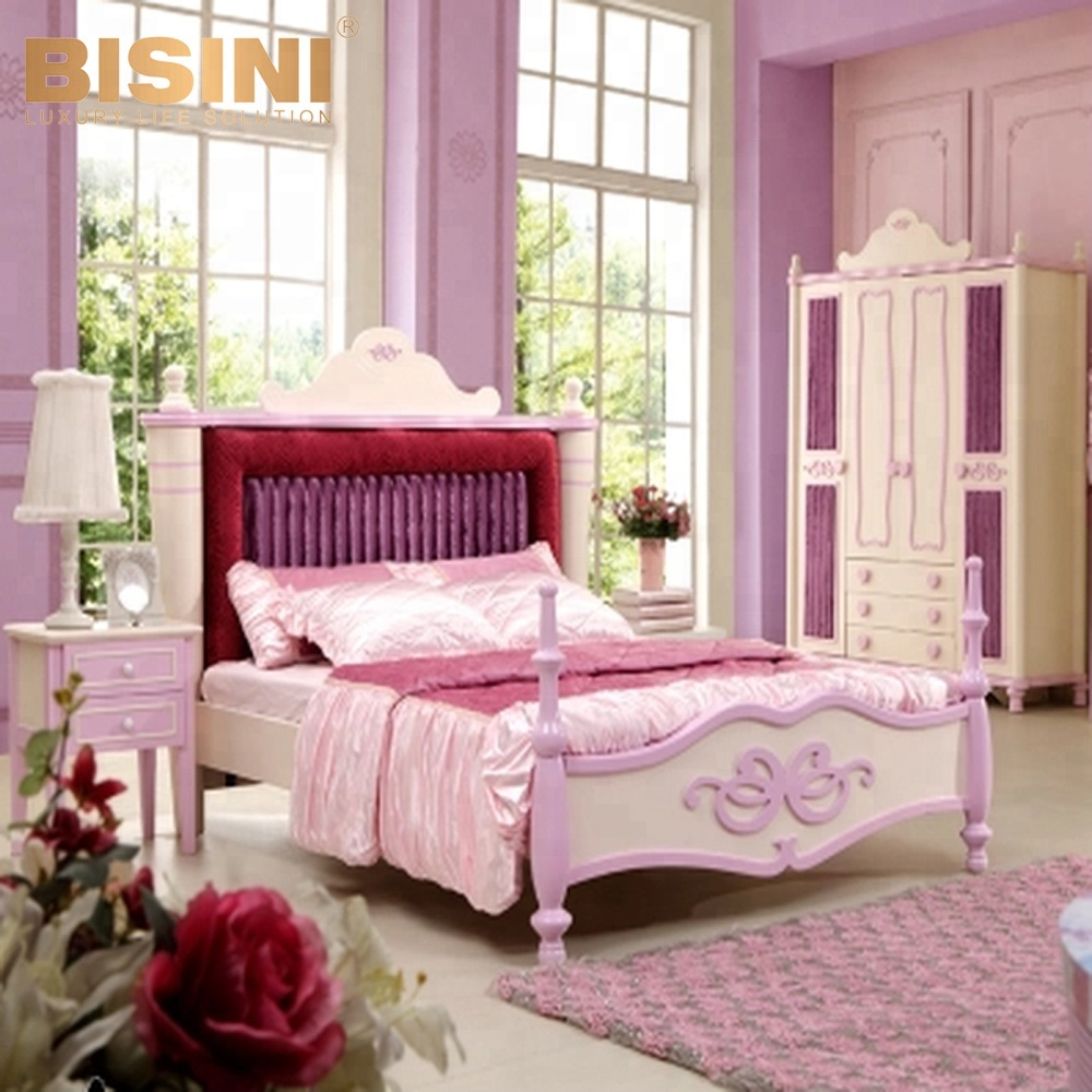 Bisini Royal Dubai Girls Pink Bedroom Furniture,Children Dresser ...