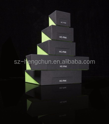 Foldable design cardboard jewelry set packaging box manufacturer