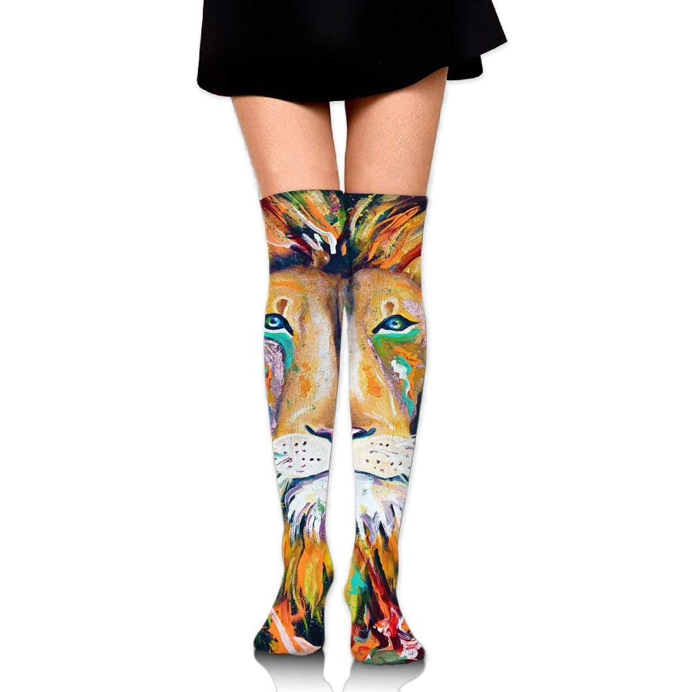 01587647645 Get Quotations · Reggae Lion Girls Over The Knee Thigh High Stockings Sexy  Socks